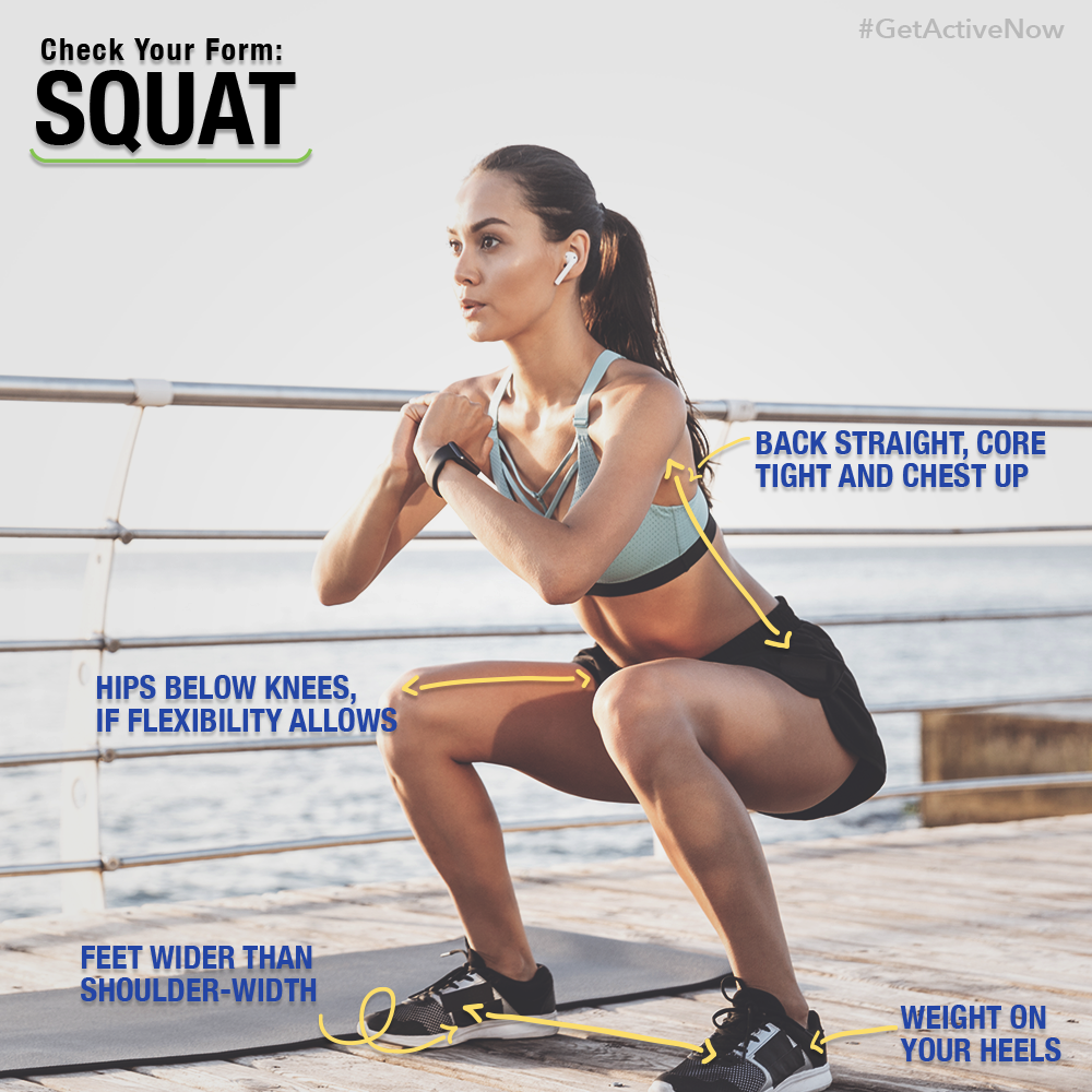 Right form for Squat