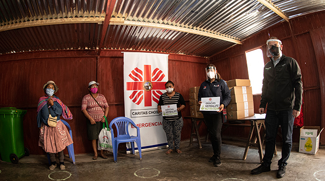Caritas-Peru-protein-bars-donation
