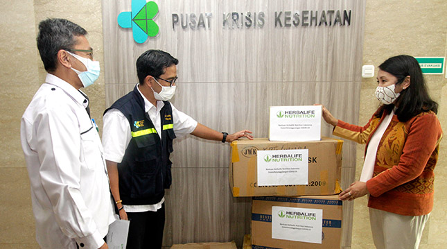 Donation to Indonesia's Ministry of Health