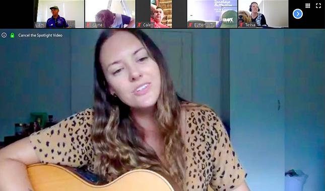 Sunshine Butterflies hosting a virtual sing-along