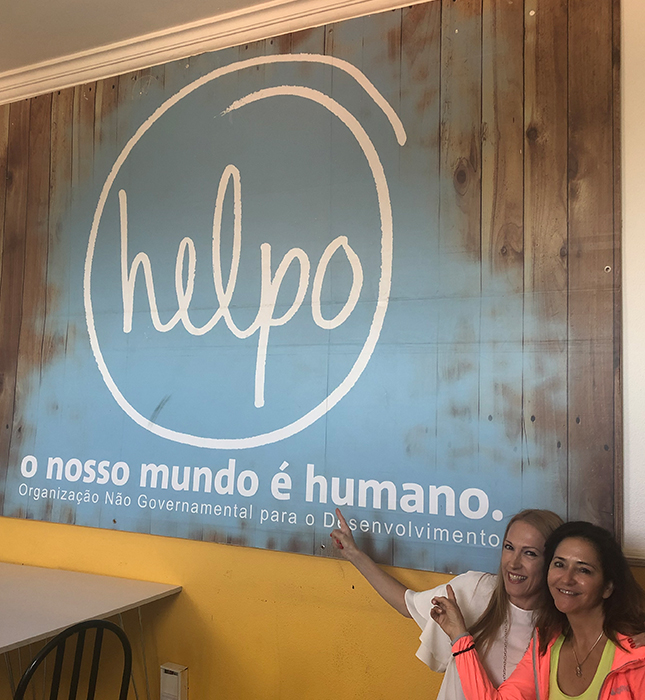 Natalia at HELPO with Herbalife Nutrition Portugal country director Gee Soares