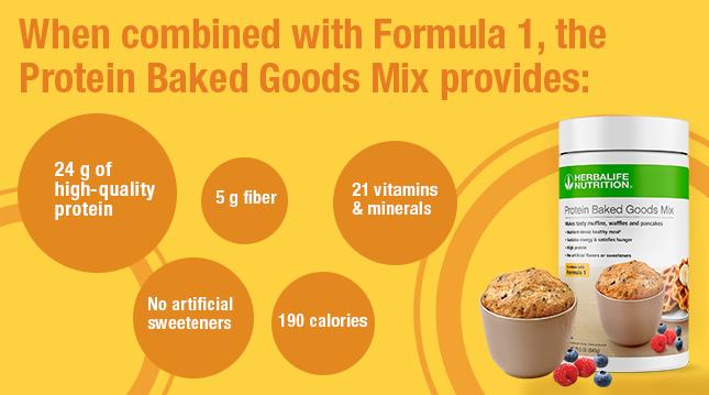 Herbalife Protein Baked Goods Mix benefits