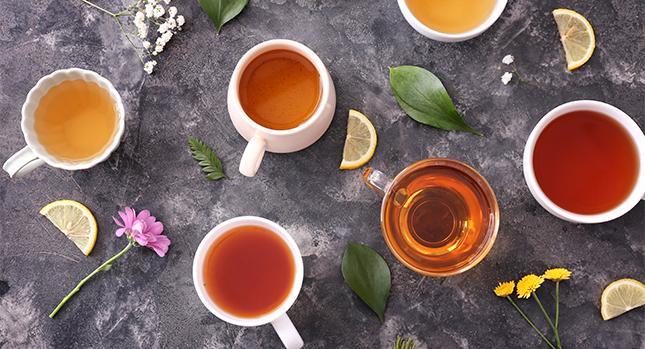 Colorful tea varieties