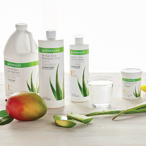 Herbalife aloe products lineup