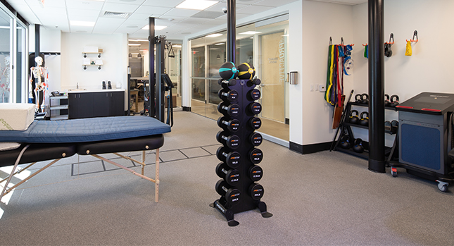Proactive physical therapy room