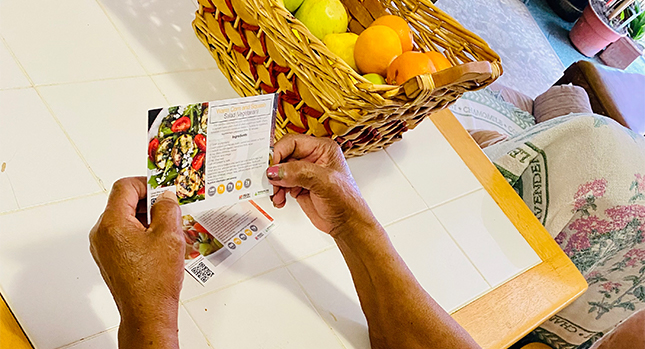 Supporting NHCOA with healthy recipe cards